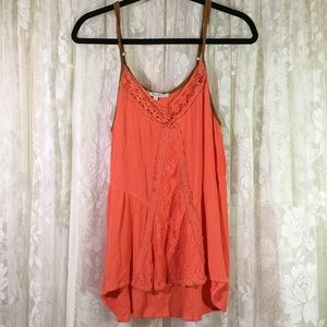 Miss Me Tank Top With  Faux Suede Straps
